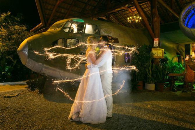 Destination wedding at El Avion, Costa Verde in Manuel Antonio, Costa Rica. Wedding Photography by John Williamson
